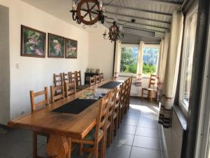 salle à manger gite Orchidée, piscine couverte, alsace hautes vosges, alsace haut rhin